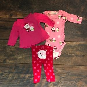 carters matching sets baby girl newborn christmas outfit